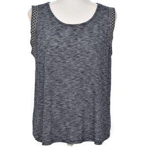 W5 Anthropologie L Sleeveless Tee Top Anthro Shirt